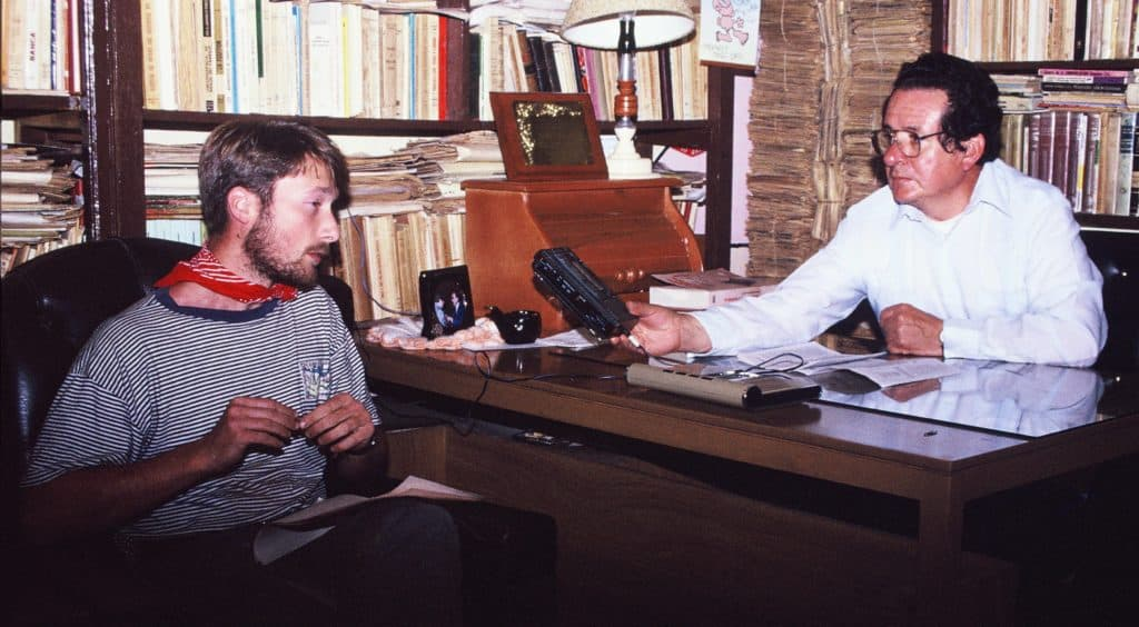 Interviewed on the importance of  the Podocarpus National Park in Ecuador. Loja 1990.